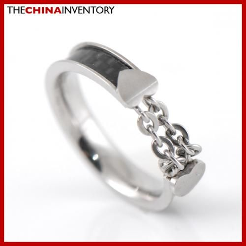4MM SIZE 5 STAINLESS STEEL CARBON FIBER RING R2303