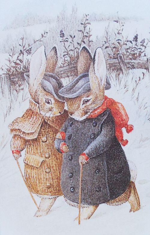 Новогодние и рождественские открытки беатрис поттер