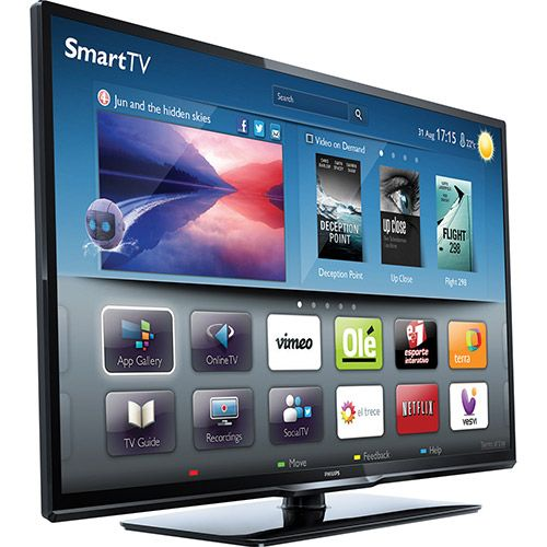 Smart TV LED 32 Philips 32PFL3518 Full HD, por R$ 1.289,00