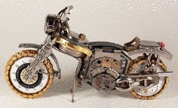 Watches Transformed Into Intricate Motorcycles by Dmitry Khristenko