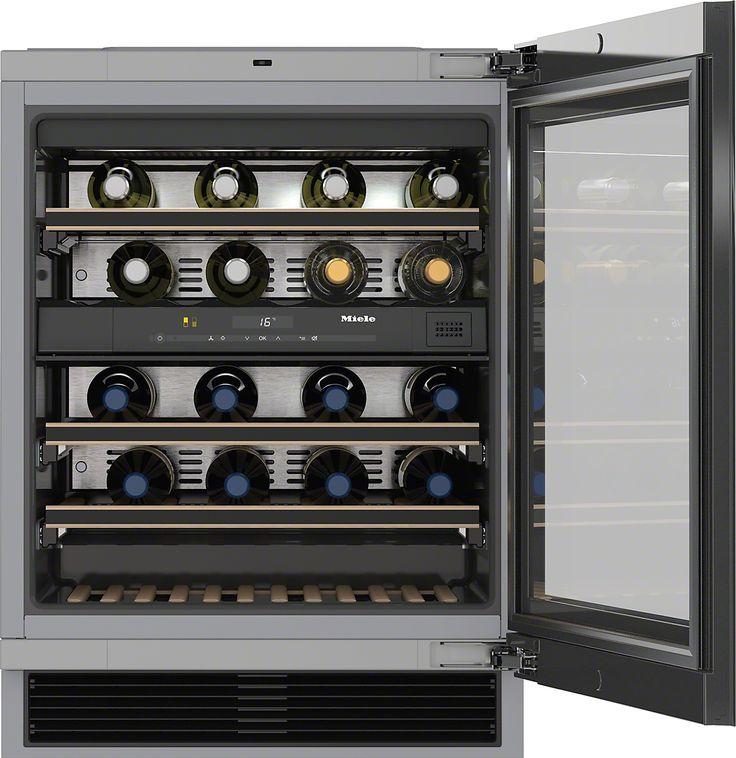 KWT 6322 UG Unterbau-Weintemperierschrank mit FlexiFrame und Push2open für mehr Flexibilität und hochwertiges Design.  Parallele Lagerung von Wein durch separate Temperaturzonen Keine Gerüche im Kühlraum dank des Active AirClean-Filters Ihr Weinlager wird perfekt in Szene gesetzt - LED-Beleuchtung Optimaler Schutz des Weins durch UV-Filter in getönter Glasfront Sichere Lagerung Ihres Weins durch ausziehbare Ablageborde Mehr Produktinformationen  Preis:EUR2.799,00*