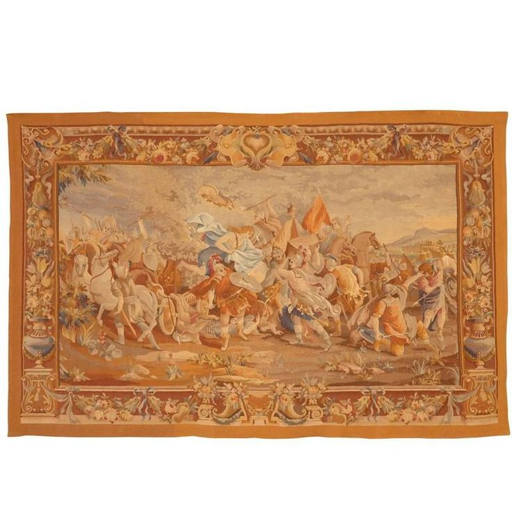 Antique 19th Century French Aubusson Tapestry | From a unique collection of antique and modern tapestries at https://www.1stdibs.com/furniture/wall-decorations/tapestry/