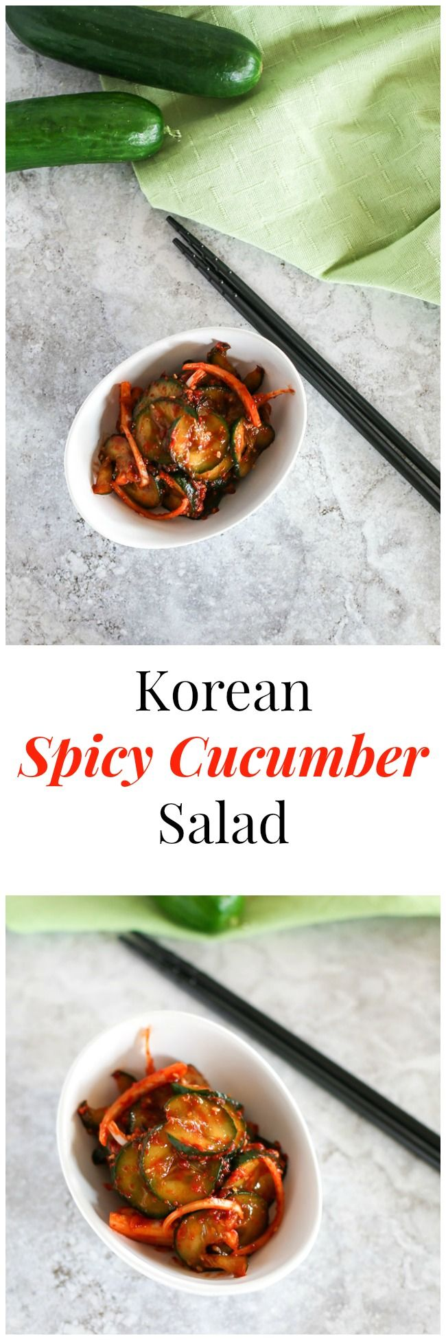 Korean Spicy Cucumber Salad: A perfect Korean side dish for spring and ...