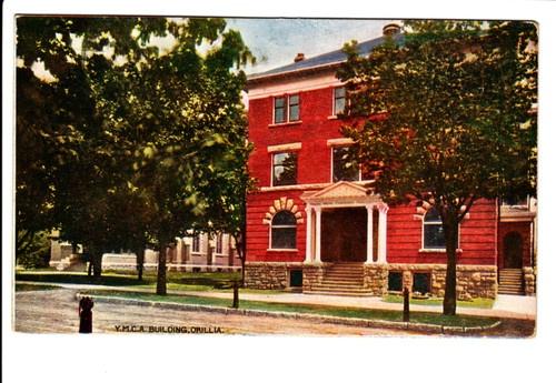 Old YMCA Building Orillia Ontario ON Canada Postcard