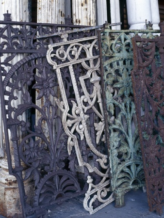 antique fence for fireplace grate