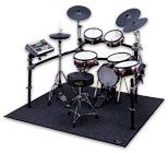 'Roland's popular V-Tour® series gets upgraded with a newly designed Kick Pad and V-Cymbals®, and an enhanced TD-9 sound module, to improve the total playability of the drum set. Play any style of music with the diverse range of sounds onboard, and drum along your favorite MP3/WAV songs via USB key.'    This is a thing of pure genius.  I played more in the few days after buying it than I did in the few years beforehand.  Fantastic fun!