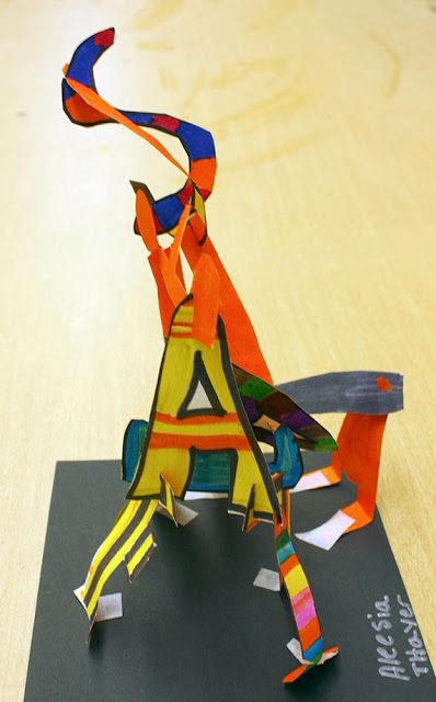 Barbara's Thought of the Day: Middle School Name Sculptures