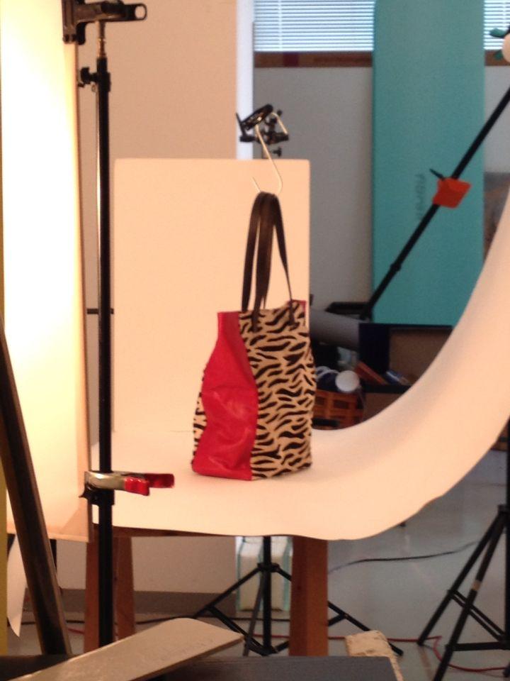 Animal print shopping bag
