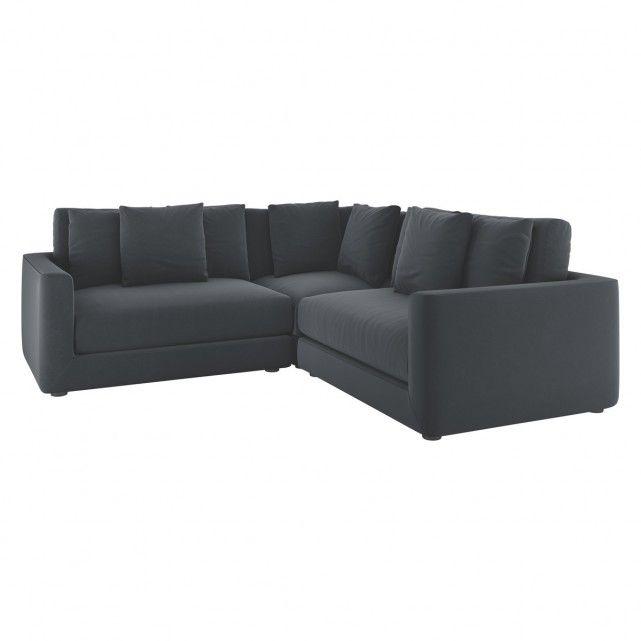 Rupert Dark Grey Velvet Reversible Corner Sofa In 2019 Fruusi