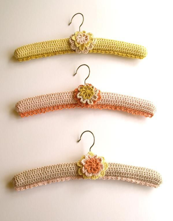 Crocheting: Crochet Covered Hangers - just like grandma used to make.  ||  craftsy #matildajaneclothing  #MJCdreamcloset