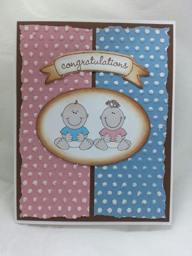 Baby card for twins