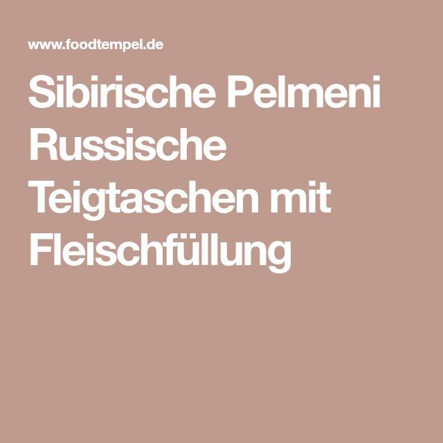Sibirische Pelmeni Russische Teigtaschen mit Fleischfüllung