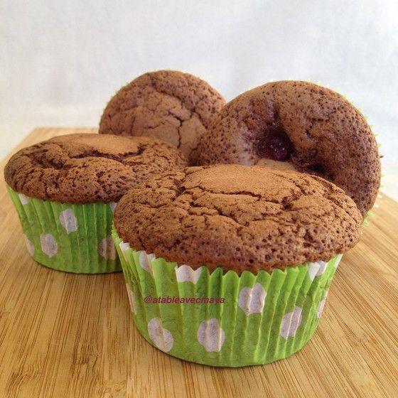 Cupcakes chocolat et framboises