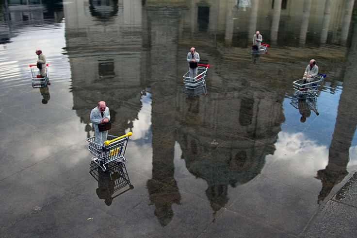 Tiny, Heartbreaking Street Art Sculptures from Isaac Cordal