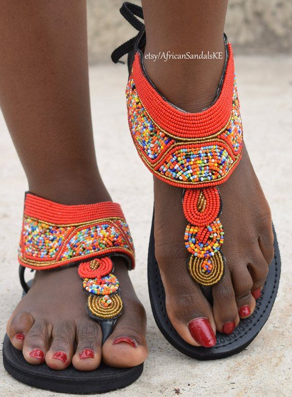 5e93a13c5 ON SALE LEATHER Sandals, African Sandals, Greek Sandals, Women Sandals, Bohemian  Sandals, Beaded San