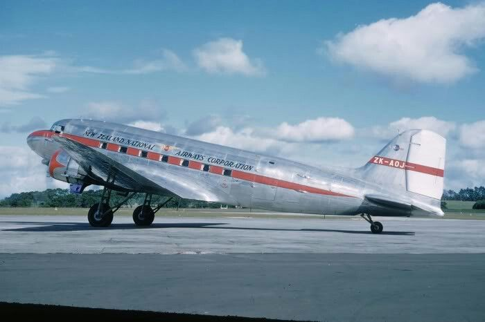 NAC DC-3, Whenuapai Airport, 1958, image Wings Over New Zealand