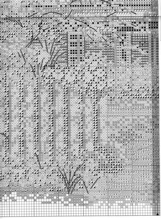 Схема вышивки Викторианский коттедж (Bucilla) 5 из 6