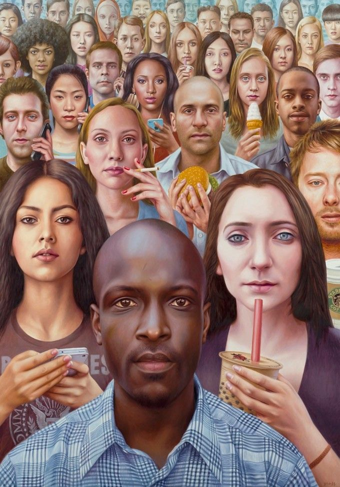 "Alex Gross Opens ""Future Tense"" Solo Exhibition at Jonathan LeVine Gallery 