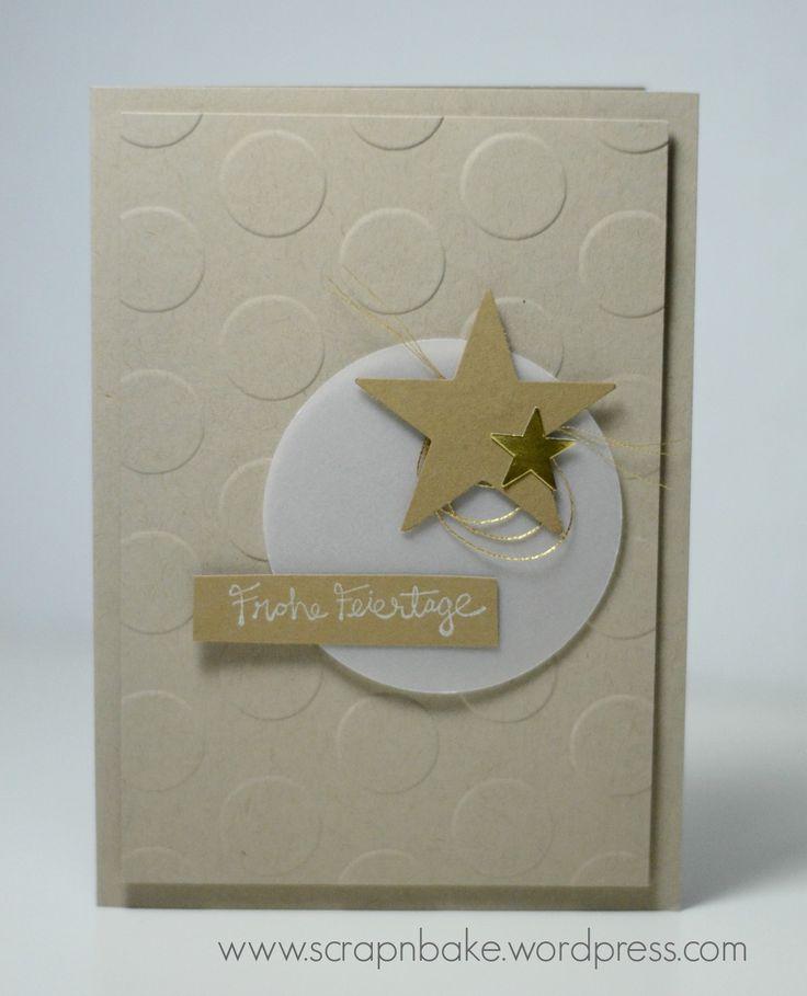 Stampin' UP! - Sterne - Stars - Weihnachten- Christmas