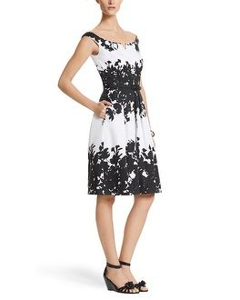 Ecru guipure lace dress white house black market