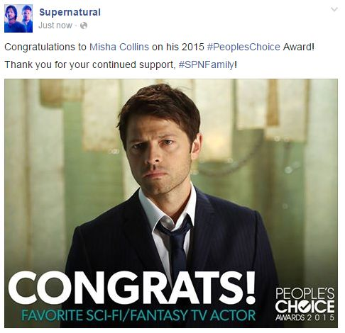 Congratulations To Misha Collins On His 2015 PeoplesChoice Award!  Misha Collins Resume