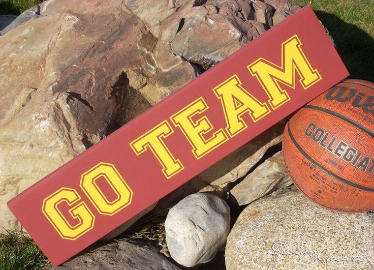 Custom Sign - GO TEAM - Custom Made Team Sign, sports team, football, basketball, baseball - Man cave sign by DESIGNandCREATE on Etsy https://www.etsy.com/listing/85060651/custom-sign-go-team-custom-made-team