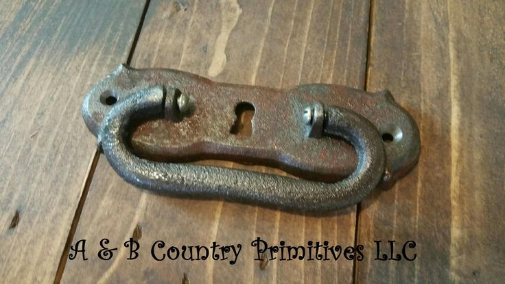 Antique Vintage Style Drawer Pull with Keyhole, Drawer Handle, Furniture Hardware, Woodworking Supplies by ABCountryPrimitives on Etsy