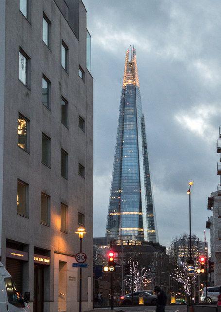 The Shard as seen from Queen Elizabeth Street, London SE1 by Christine Matthews