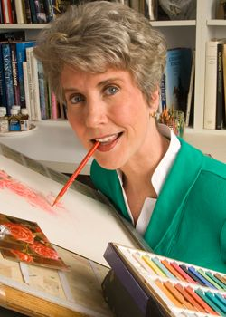 Joni Eareckson Tada - what an amazing story she has.Quadraplegic artist, author, lecturer.
