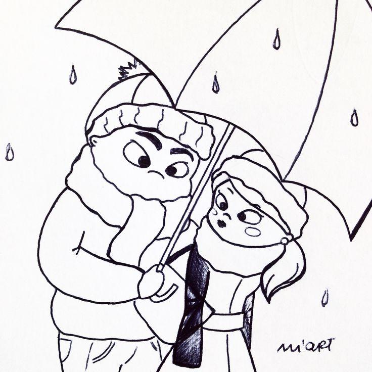 🍂🍁🌰OCTOBER 🌧☔️❄️ #marikasartworks #inktober #inktober2016 #sunday #october #rain #sketch #draw #drawing