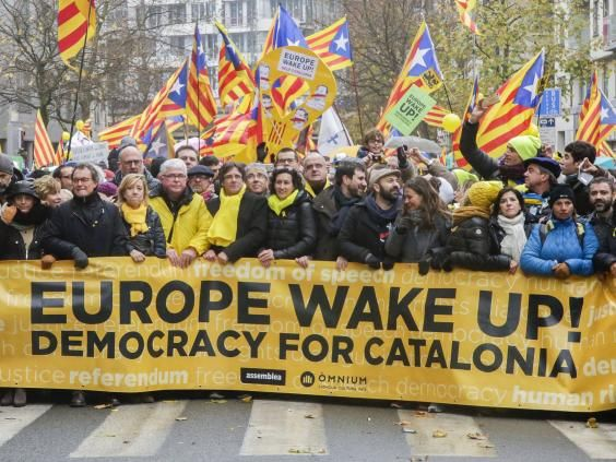 They have been beaten for trying to hold a referendum, their parliament has been dissolved and their leaders have either fled or been put in prison, but the Catalan independence supporters are not relenting. This week 45,000 Catalans and their sympathisersflocked to the rainy streets of Brussels to greet their deposed former president Carles Puigdemont and take their fight to the capital of Europe. Four days before Christmas they will take it to the ballot boxes in regional elections where…