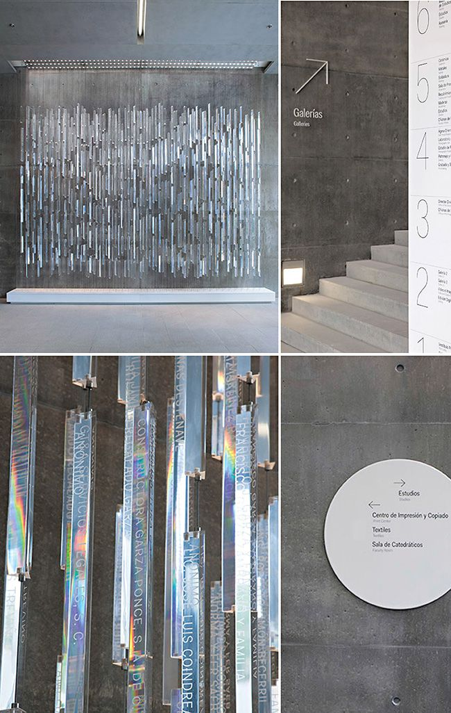 polished Plexiglas rods create prism installation / by Pentagram for Centro Roberto Garza Sada