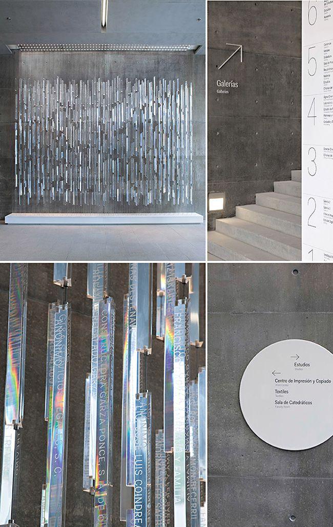 Plexiglas rods create prism installation / by Pentagram for Centro Roberto Garza Sada