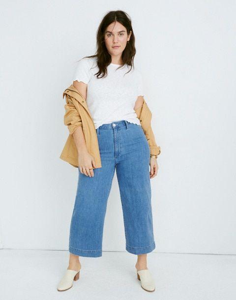 86fc4a4a0 Emmett Wide-Leg Crop Jeans in Langston Wash in langston wash image 1