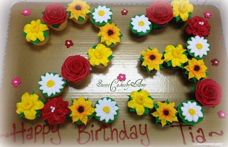 Buttercream flowers cupcakes - Cake by Amy Erb