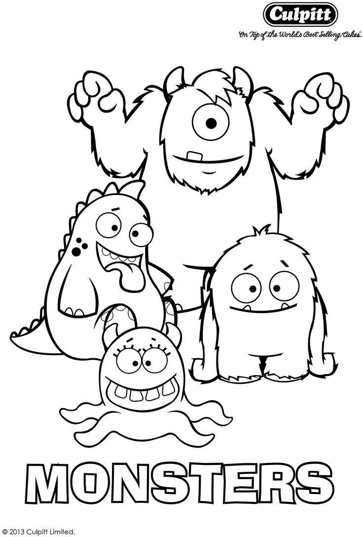 Colouring sheets to colour - Get Your Fab Free Monster Colour In Sheet To Keep Your Little Monsters Entertained Head