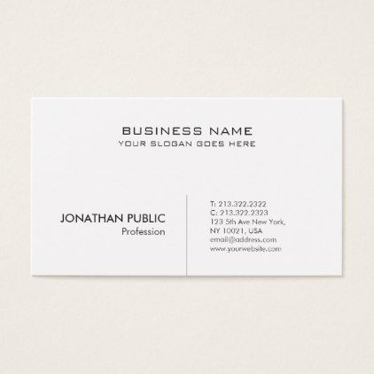 Creative Modern Professional Minimalistic Stylish Business Card - attorney lawyer business personalize unique counsel