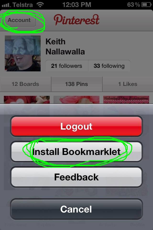 How to install the Pinterest Pin It button on your iPhone