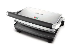 Probably the best panini maker from Breville, the BSG520XL features a non-stick, scratch free surface for starters. The surface itself was very innovative and we found its texture to be perfect for all kinds of cooking tasks.