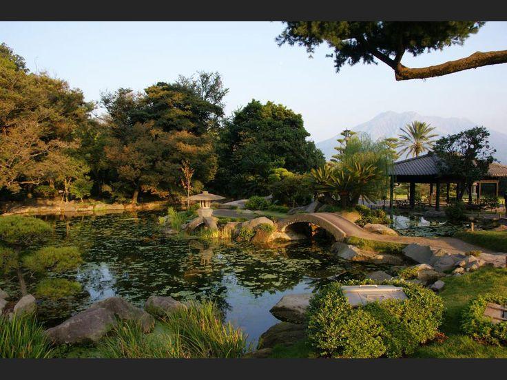 Le jardin Senganen, à Kagoshima (Japon).