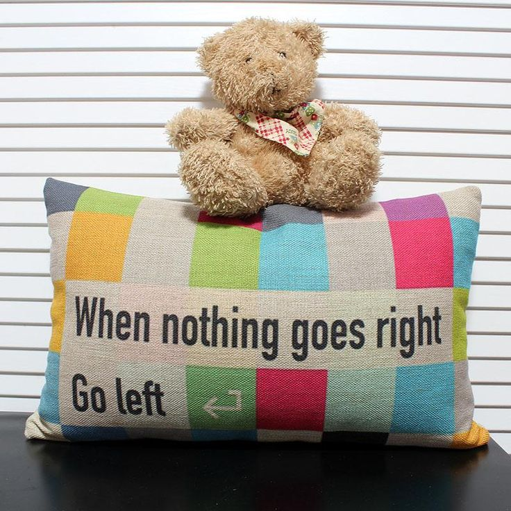 Twisters Cushion Cover-When Nothing Goes Right Go Left Cushion Cover, Linen 30cmx50cm Throw Pillow Case, $37.7 | DHgate.com