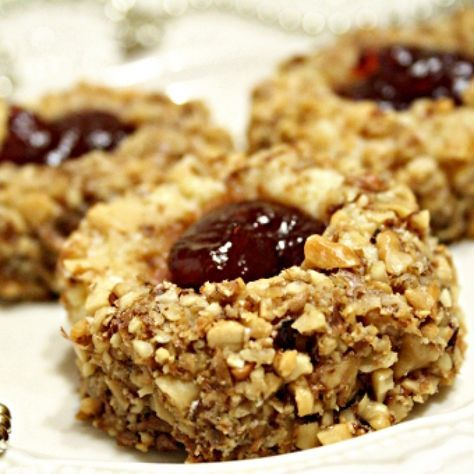 Очень вкусное ореховое печенье с джемом к чаю!