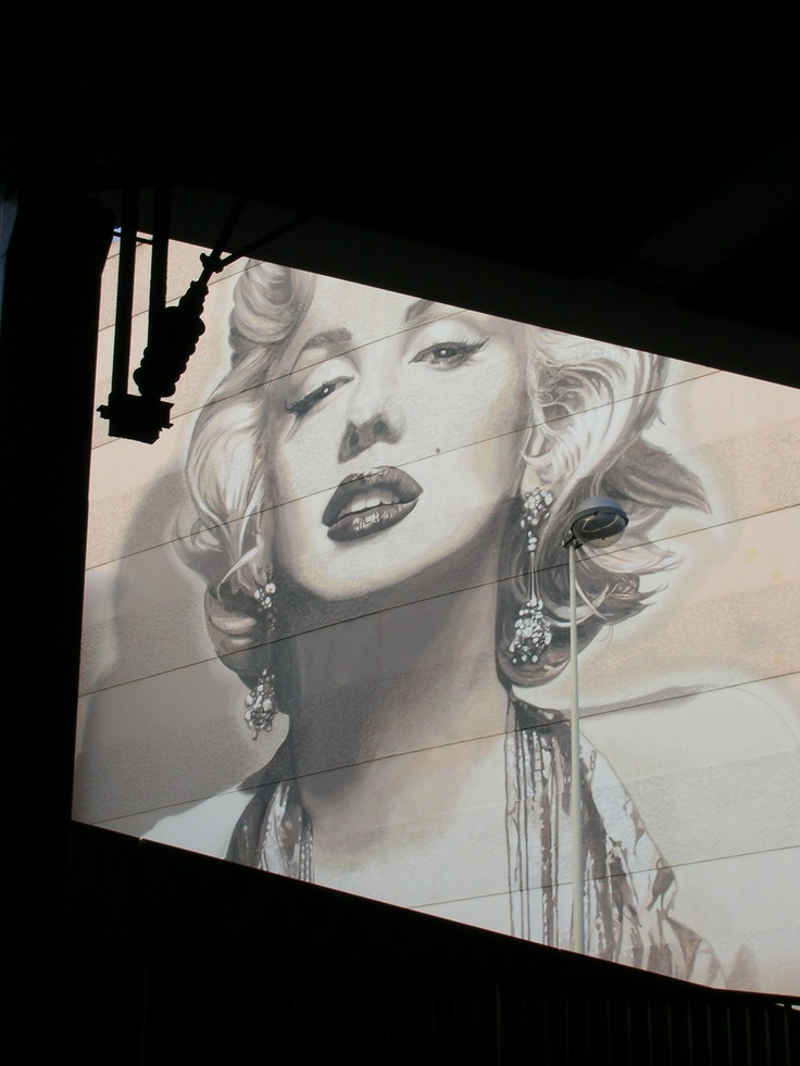 marylin on a wall in cannes
