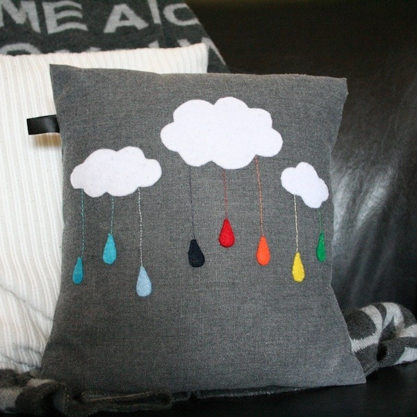 Rain-Bow-Cloud Customizable Cushion Cover. $35.00, via Etsy.