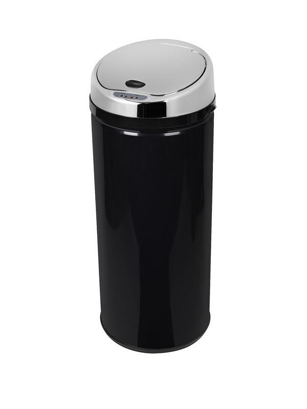 Morphy Richards 42-litre Round Sensor Bin – BlackTaking the classic round bin design and adding a sleek sensor, Morphy Richards have once again raised the bar for both style and innovation.With a black body and sparkling stainless steel lid, the bin sees when you are 15-20 cm away and automatically opens up, ready for any waste, before closing again after around 5 seconds of inactivity.Not only does this make it nice and easy to use when your hands are full, but it also stop you from having…