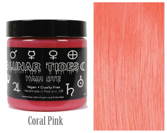 Pastel Coral Hair Dye by LunarTidesHair on Etsy