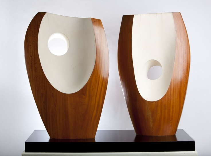 Barbara Hepworth. Two forms with White