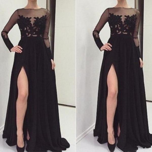 Black lace prom dress tumblr