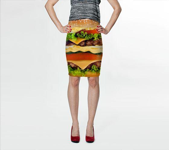 Burger Me! Bodycon Skirt - Available Here: http://artofwhere.com/shop/product/49744