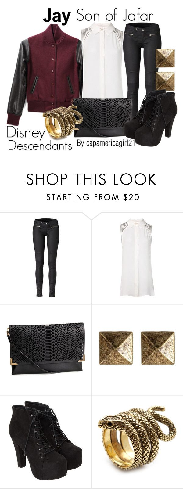 """""""Jay: Son of Jafar"""" by capamericagirl21 ❤ liked on Polyvore featuring Haute Hippie, H&M, Blu Bijoux and Miso"""